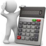 poppetje met rekenmachine